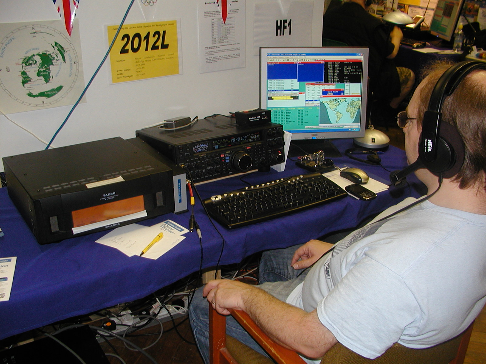 Guy G0UKN operating the Olympics station 2O12L
