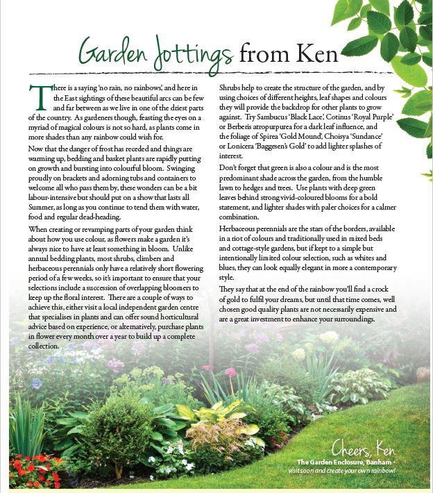 Ken's jottings Early Summer 2017